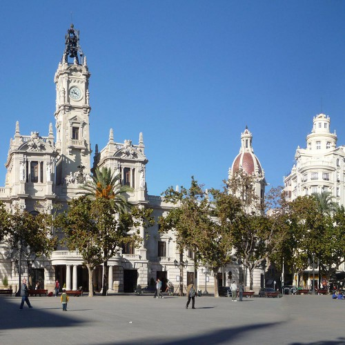 Площадь мэрии, Валенсия - Plaza de Ayutamiento, Valencia